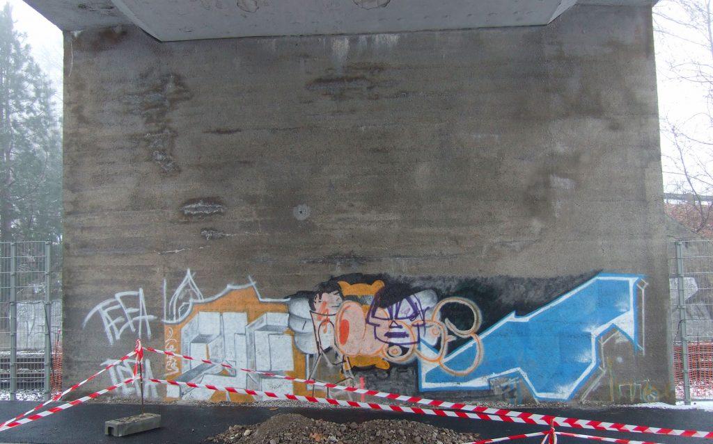 Avant le décor sous le pont de la gare de Duppigheim.