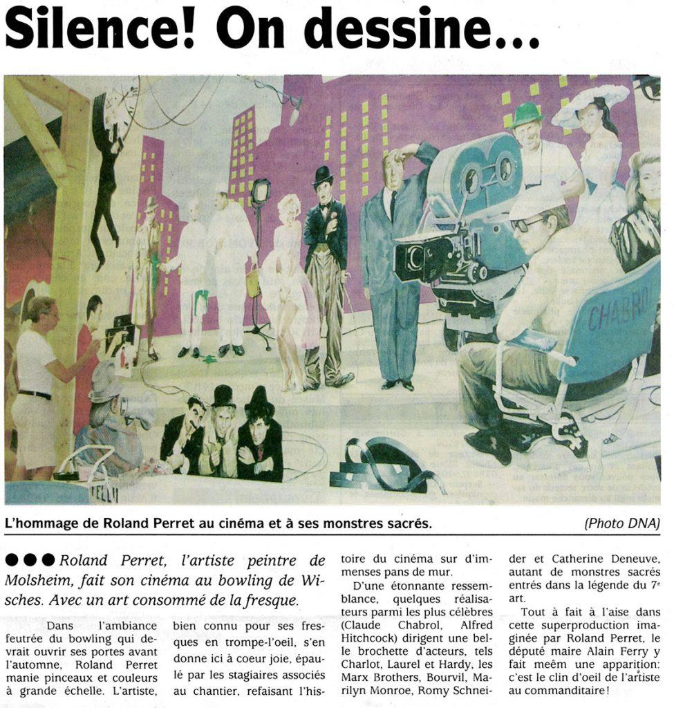 Article DNA.Décor intérieur du bowling de Wisches. Fresque de Roland Perret. illusions-murales.com