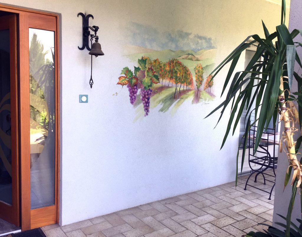 Fresque vignoble alsacien en automne par Jordane Desjardins